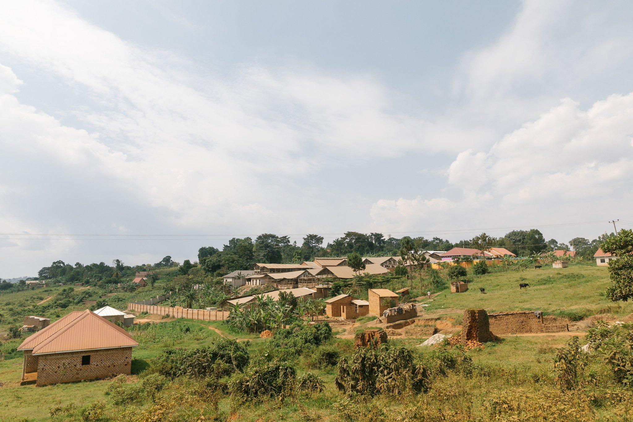Village in rural Uganda
