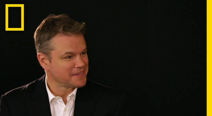 Matt Damon in National Geographic