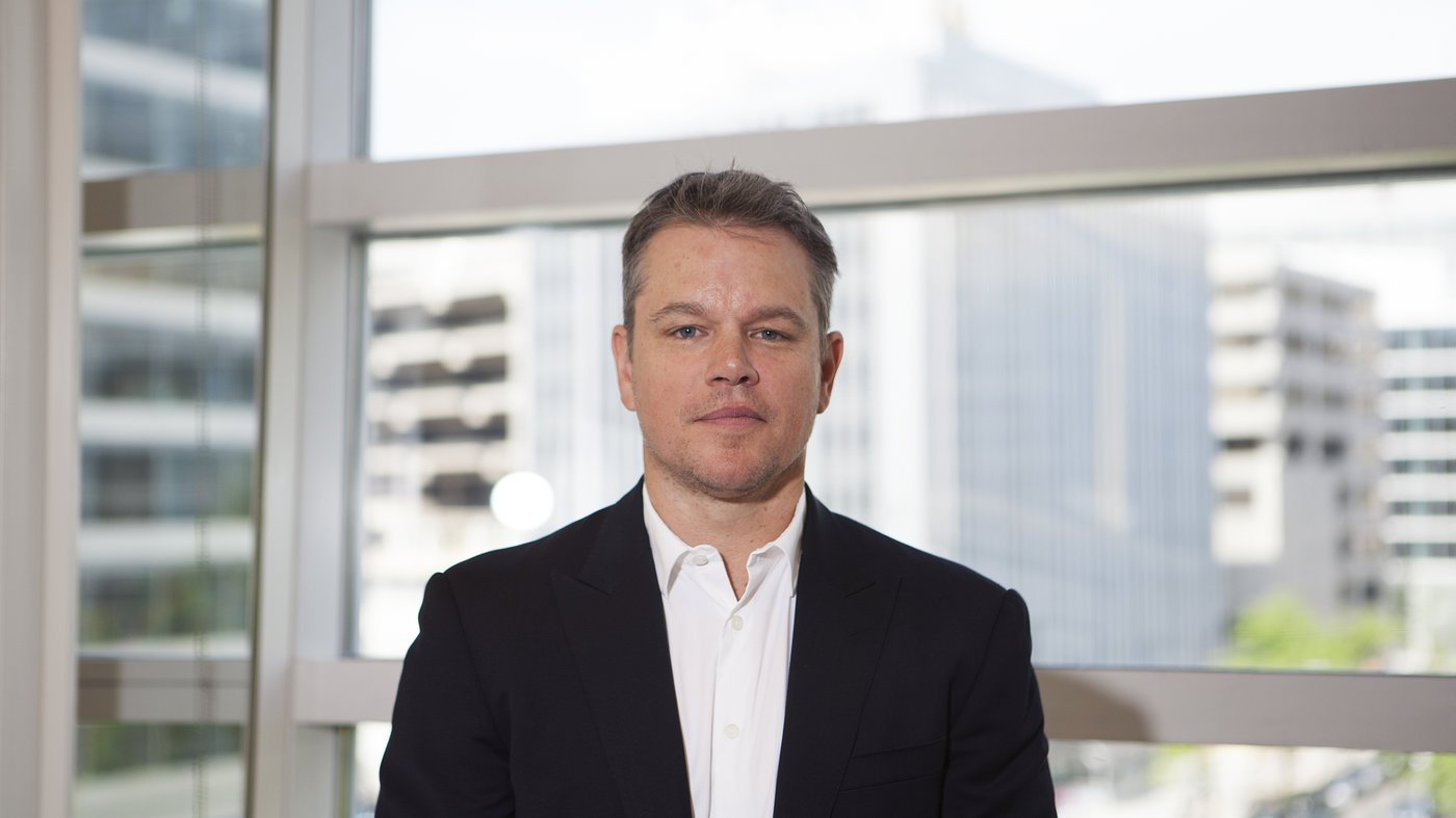 Matt Damon at World Bank
