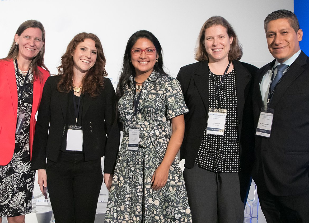 Water.org team members at the WaterCredit Forum in Lima, Peru