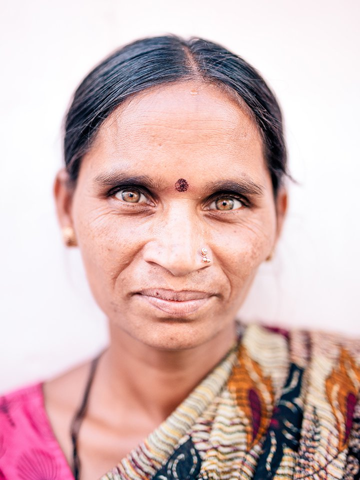 A woman in India