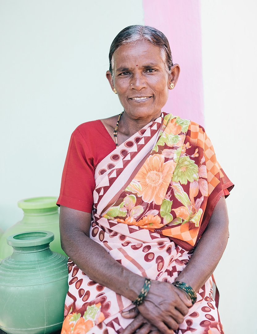 Nanda has access to safe water in India